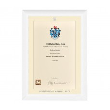 White Scoop Certificate Frame