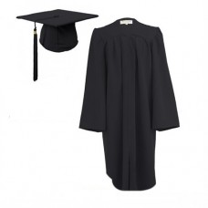Children's Graduation Gown Sets in Matt Finish (6-13yrs)  - HIRE