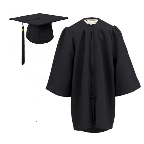 Children\'s Graduation Gown Sets in Matt Finish (3-6yrs) - HIRE