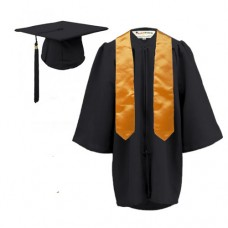 Children's Graduation Gown and Stole Set in Matt Finish (3-6yrs)