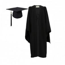 Graduation Gown Set UKJ Style in Matt Finish - HIRE