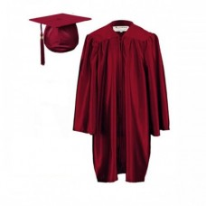 Graduation Gown Set in Satin Finish