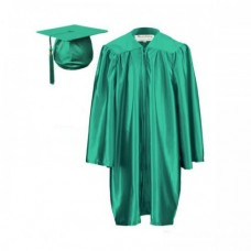 Children's Graduation Gown Set in Satin Finish (6-13yrs) - HIRE