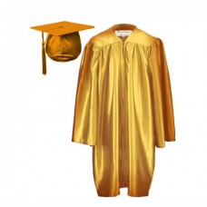 10 x Children's Graduation Gown Set in Satin Finish (3-5yrs)