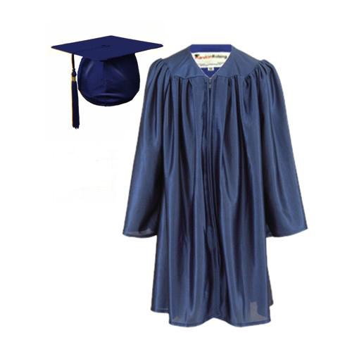 Graduation Gown Set in Satin Finish