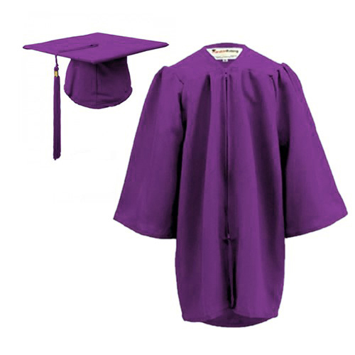 Childrens Graduation Gown Sets In Matt Finish 3 6yrs
