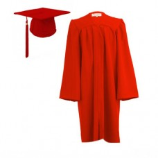Graduation Gown Set in Matt Finish - HIRE