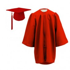 Children's Graduation Gown Sets in Matt Finish (3-6yrs)