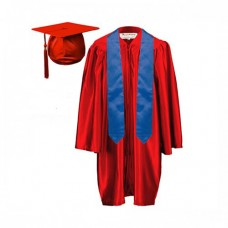 5 x Children's Graduation Gown and Stole Sets in Satin Finish (3-6yrs)