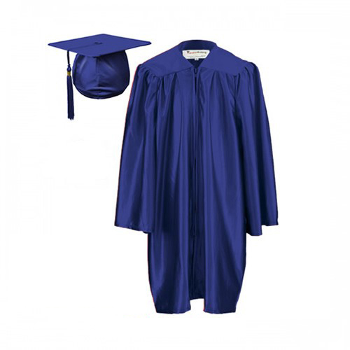 Graduation Gown Set in Satin Finish - HIRE