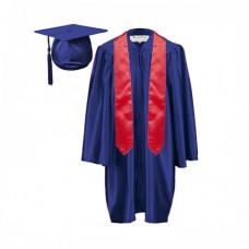 10 x Children's Graduation Gown and Stole Set in Satin Finish (7-13yrs)