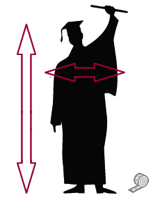 Adults Graduation Robe Size Guide
